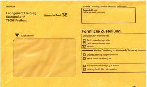 Einschreiben Briefkasten